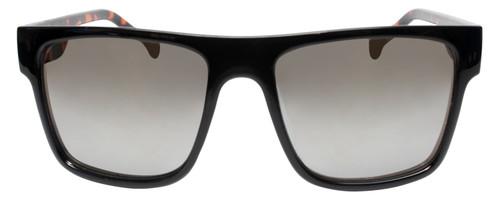 Front View of Converse H082 Unisex Square Full Rim Sunglasses Black Tortoise/Grey Mirror 56mm