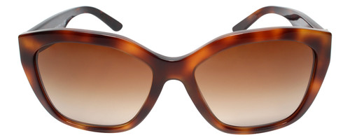 Front View of Burberry 0BE4261 Ladies Oversized Full Rim Sunglasses Havana Tortoise Brown 57mm