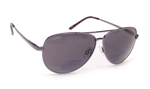 Coyote BP-12 Polarized Bi-focal Reading Sunglasses in Gun