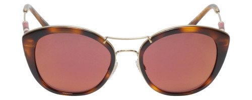 Front View of Burberry BE4251Q Ladies Cateye Sunglasses Tortoise Havana Brown w/Rose Pink 53mm