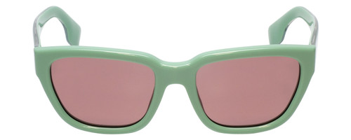 Front View of Burberry BE4277 Ladies Classic Full Rim Sunglasses Green/Violet Purple Lens 54mm