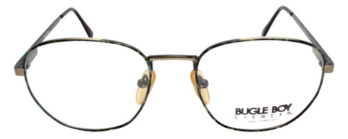 Bugle Boy Designer Metal Eyeglasses Green Tortoise Havana Gold 48mm Rx Bi-Focal