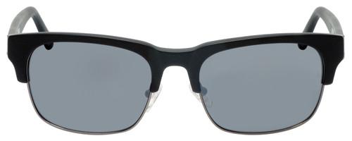 Front View of Gant GA7084 Classic Semi-Rimless Sunglass Matte Black Gun Metal Grey Mirror 56mm