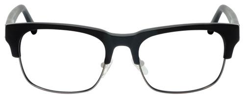 Front View of Gant GA7084 Designer Reading Eye Glasses with Custom Left and Right Powered Lenses in Matte Black Gun Metal Mens Classic Semi-Rimless Metal 56 mm