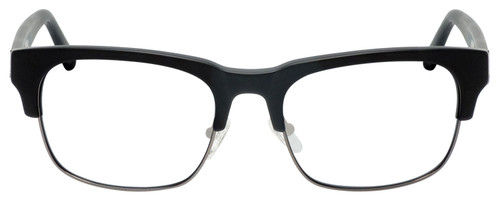 Front View of Gant GA7084 Designer Reading Eye Glasses with Single Vision Prescription Rx Lenses in Matte Black Gun Metal Mens Classic Semi-Rimless Metal 56 mm