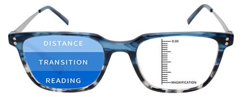 Progressive Lens Blue Light Blocking Glasses Lenses Layout Illustration