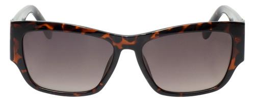 Front View of Guess GU7623 Ladies Cateye Full Rim Sunglasses Havana Tortoise/Amber Brown 57mm