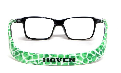 Hoven Eyewear MONIX in Black & Green Turtle :: Rx Single Vision