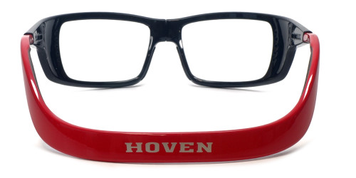 Hoven Eyewear Meal Ticket in Black Gloss with Red :: Rx Single Vision