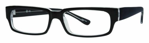 Calabria Soho 98 Black Crystal Designer Eyeglasses :: Custom Left & Right Lens