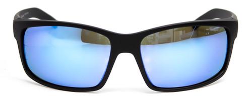 Front View of Arnette FASTBALL Classic Full Rim Sunglasses Matte Black/Dark Grey Mirror 62 mm