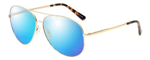 Profile View of Michael Kors KENDALL Designer Polarized Sunglasses with Custom Cut Blue Mirro