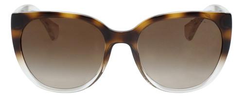 Front View of Ralph Lauren Women Cateye Sunglasses Tortoise Havana Crystal/Gradient Brown 55mm