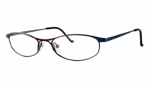 Joan Collins Eyeglass Collection 9668 in Sky Blue :: Custom Left & Right Lens