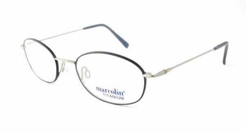 Marcolin Designer Eyeglasses 2045 in Blue Pewter :: Custom Left & Right Lens