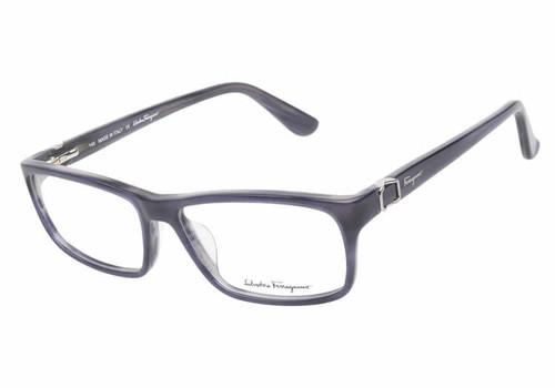 Salvatore Ferragamo Designer Eyeglass Collection SF2608 in Blue Horn :: Custom Left & Right Lens
