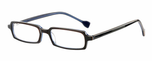 Ink Eyeglasses Contour in Brown Denim :: Custom Left & Right Lens