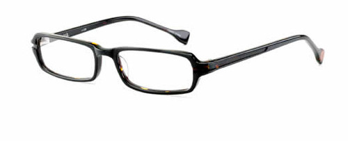 Ink Eyeglasses Serif in Black :: Custom Left & Right Lens