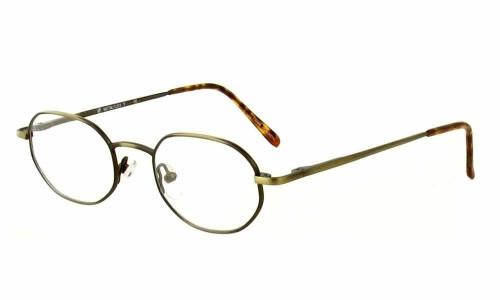 Calabria MetaFlex T Gold Amber Eyeglasses :: Custom Left & Right Lens