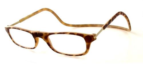 Clic Magnetic Eyewear Regular Fit Original Style in Light-Tortoise :: Custom Left & Right Lens