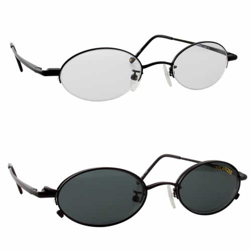 Magnetic Clip-On 211 Polarized Reading Sunglasses :: Custom Left & Right Lens