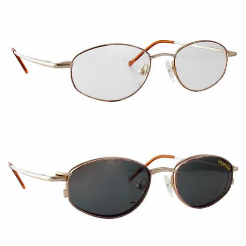 Magnetic Clip-On 219 Polarized Reading Sunglasses :: Custom Left & Right Lens