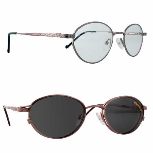 Magnetic Clip-On 224 Polarized Reading Sunglasses :: Custom Left & Right Lens