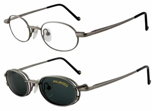 Magnetic Clip-On 253 Polarized Reading Sunglasses :: Custom Left & Right Lens