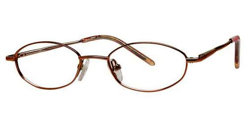 Calabria Viv Kids Zaps 9 Designer Eyeglasses in Brown :: Custom Left & Right Lens