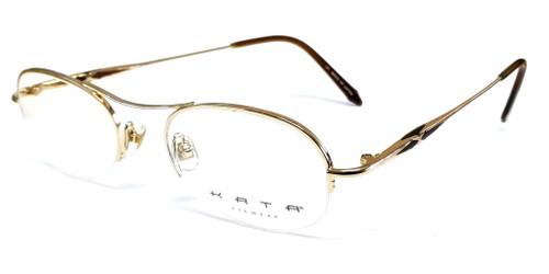 Kata Designer Eyeglasses 191 Noa in Brown :: Custom Left & Right Lens