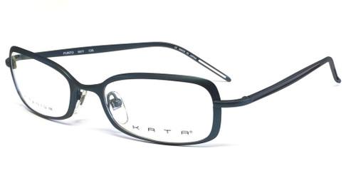 26cce50f32d6 Kata Designer Eyeglasses 239 Punto in Navy :: Custom Left & Right Lens