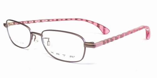 Kata Designer Eyeglasses 121 Ribbon in Rose :: Custom Left & Right Lens