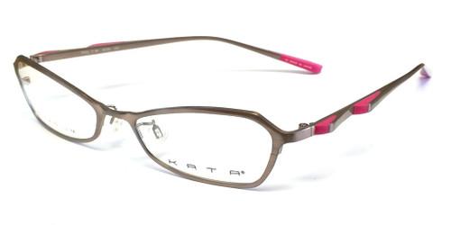 Kata Designer Eyeglasses 129 Rose in Rose :: Custom Left & Right Lens