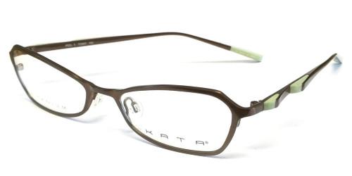 Kata Designer Eyeglasses 129 Toast in Bronze & Lime :: Custom Left & Right Lens