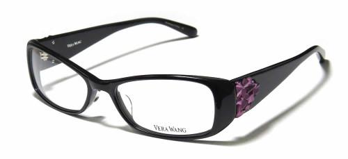 Vera Wang Designer Eyeglasses V076 in Black :: Custom Left & Right Lens