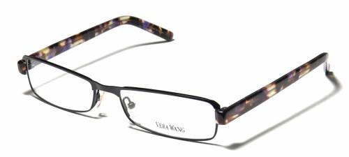 Vera Wang Designer Eyeglasses V085 in Black 54mm :: Custom Left & Right Lens