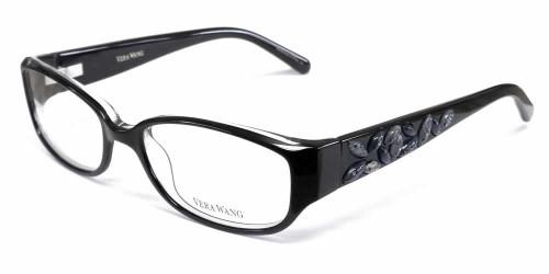 Vera Wang Designer Eyeglasses V088 in Black :: Custom Left & Right Lens