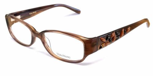 Vera Wang Designer Eyeglasses V088 in Brown :: Custom Left & Right Lens