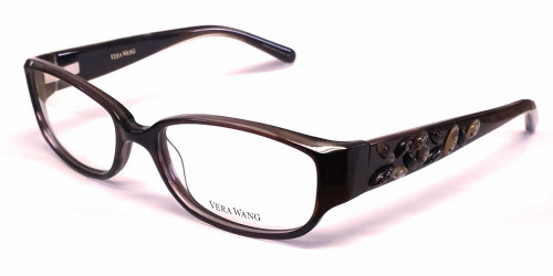 Vera Wang Designer Eyeglasses V088 in Ruby :: Custom Left & Right Lens