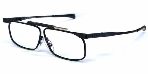 SlimFold Kanda of Japan Folding Eyeglasses w/ Case in Black (Model 001) :: Custom Left & Right Lens