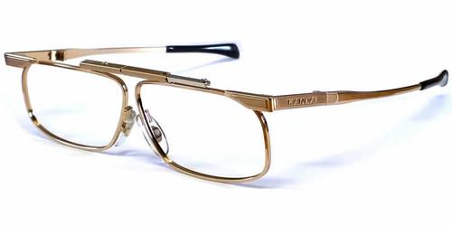 SlimFold Kanda of Japan Folding Eyeglasses w/ Case in Gold (Model 001) :: Custom Left & Right Lens