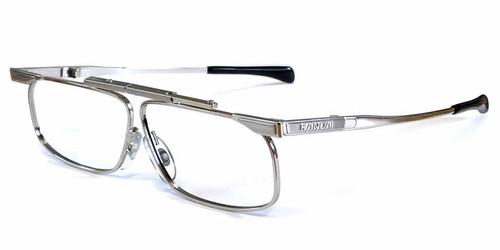 SlimFold Kanda of Japan Folding Eyeglasses w/ Case in Silver (Model 001) :: Custom Left & Right Lens