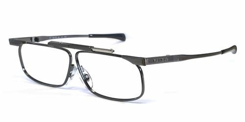 SlimFold Kanda of Japan Folding Eyeglasses w/ Case in Gun-Metal (Model 005) :: Custom Left & Right Lens
