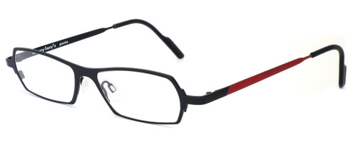 Harry Lary's French Optical Eyewear Mixxxy Eyeglasses in Matte Black & Red (860) :: Custom Left & Right Lens