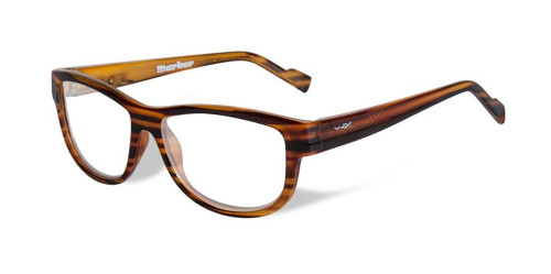 Wiley-X Marker Optical Eyeglass Collection in Gloss-Brown-Streak (WSMAR04) :: Custom Left & Right Lens