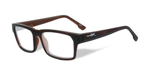 Wiley-X Profile Optical Eyeglass Collection in Matte-Hickory-Brown (WSPRF03) :: Custom Left & Right Lens