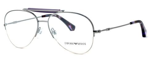 Emporio Armani Designer Eyeglasses EA1020-3010 in Silver & Purple :: Custom Left & Right Lens