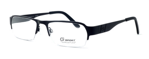 Gargoyles Designer Eyeglasses Eliminator in Black :: Custom Left & Right Lens