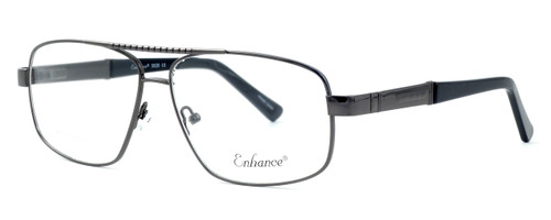 Enhance Optical Designer Eyeglasses 3920 in Dark-Gunmetal :: Custom Left & Right Lens