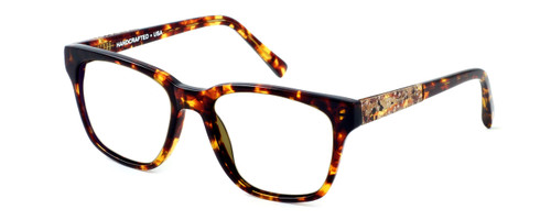 Parkman Handcrafted Eyeglasses Brickma in Tortoise with Coffee ; Made in the USA :: Custom Left & Right Lens